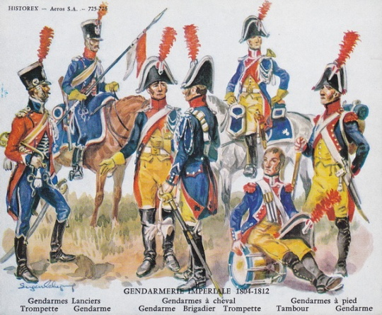 Historex Card 725-726 Gendarmerie Imperiale 1804-12